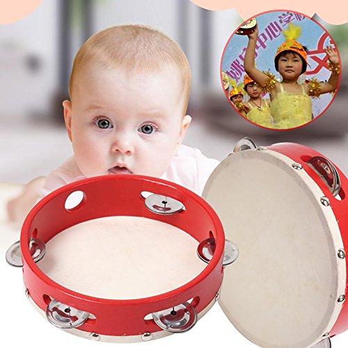 TOPmountain Tambourine - Tamburine perfektes Spielzeug für Kleinkinder und Kinder im Vorschulalter