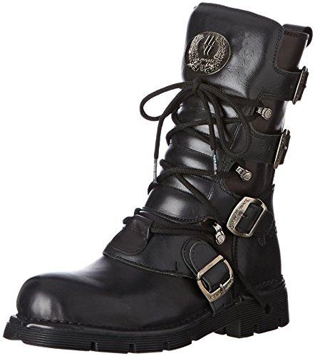 Biker nero Unisex Boots Rock M Patrimonio Nuovo Neri 373 WOnI1qx8z