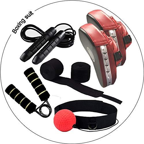 Kuty Kit Pugilato Kit da Boxe Bendaggi Boxe Guantoni Boxe Guanti da passata Corda per Saltare Hand Gripper Boxing Ball para Testicoli per Boxe MMA