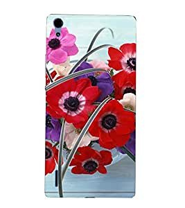 Gross flowers 3D Hard Polycarbonate Designer Back Case Cover for Huawei Ascend P7