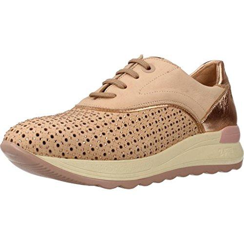 24 Horas 23585, Zapatillas Sin Cordones para Mujer, Dorado (Champan 3), 36 EU
