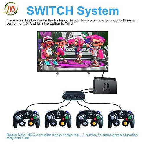 Wii U Gamecube Controller-Adapter, SHANSHUIYIPIN NGC Controller-Switch, Gamecube-Controller Adapter für Wii U, PC USB und Switch, 4 Ports, Nintendo Switch, PC USB, kein Treiber notwendig (B)