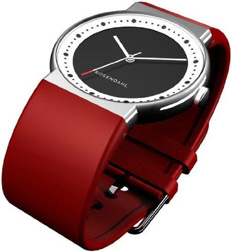 Rosendahl IV 43252 - Reloj de mujer de cuarzo, correa de caucho color rojo