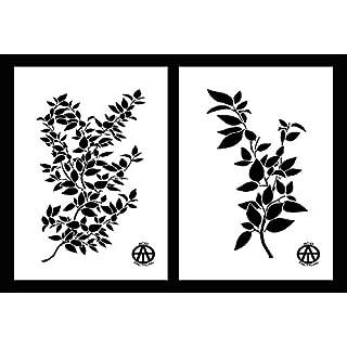 Acid Tactical® 2er-Pack – 23 cm x 35 cm Mylar-Tarnblätter-Schablonen Camouflage Jon Boot Gemälde Highbus Branch