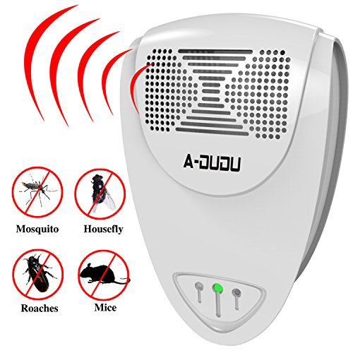 DuDu Pest Control Ultrasonic Repellent Electronic Plug-in Repeller for Insects -Best Products for Cockroach, Rodents, Fly, Roaches Ants, Fleas, Flies,Mice - Indoor Home (White)