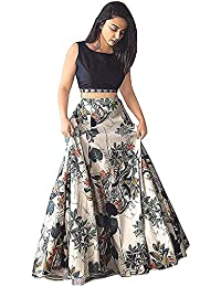 7 Horse Selection Printed Banglory satin Multi color semi stitched Lehenga Choli for Women(Free Size)(Multi color)