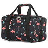 5 Cities 5 Cities Small Ryanair Travel Cabin Luggage Sports Duffel Bag Holdall, 14L (Black Flamingos) Sac de Voyage 35 Centimeters 14 Multicolore (Black Flamingos)