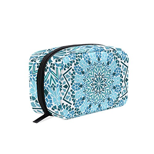 TIZORAX Tribal Moroccan Mosaic Handy Cosmetic Pouch Clutch Makeup Bag Organizer Travel Bag