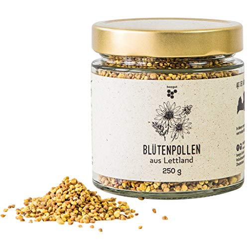 Natürliche Blütenpollen von beegut, 250g mild süße Bienenpollen, 100% rein & natürlich - Pollen, Gelee Royal