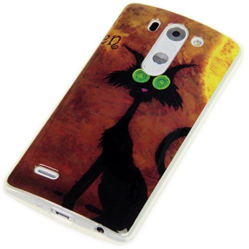 "Handy Lux® Schutz Hülle Etui Silikon TPU Cover Case Design Motiv für Apple iPhone 6 (4,7"") - Keep Calm and Carry on UK Crazy Cat"