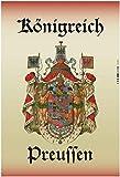 Königreich Preussen Preußen Wappen Blechschild Metallschild Schild gewölbt Metal Tin Sign 20 x 30 cm
