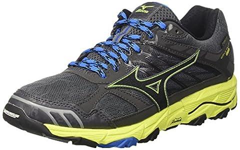 Mizuno Wave Mujin G-Tx, Chaussures de Running Homme, Multicolore (Castlerock/Black/Safetyyellow), 43 EU