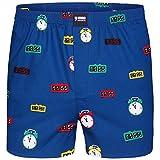 Happy Shorts Boxershorts Herren/Web-Boxer mit Jersey-Innenslip; Modell: Wecker (L)