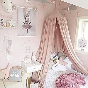 aoyu kinderzimmer bett baumwolltuch zelt bett vordach f r. Black Bedroom Furniture Sets. Home Design Ideas