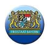 Magnetbutton - Freistaat Bayern Löwe Wappen - 16241 - Gr. ca. 5,7cm -