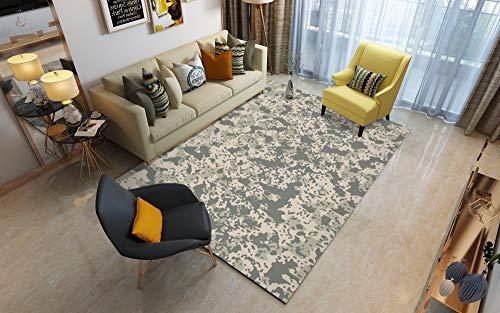Abstrakte Kunst Großes Wohnzimmer Teppich Winter Isolierung S - XXXL Moderne Traditionelle Mehrzweck Bodenmatte,Gray,160x230cm