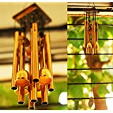 Paradigm Pictures Pipe & Bells Wind Chimes for Home Positivity & Home Balcony Garden Decoration (Brass, 4 Bell 8 Pipe)