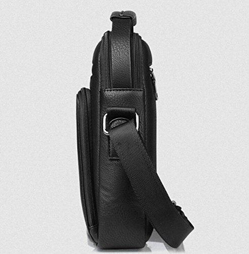 Männer Beiläufige Kurierbeutel-Schulterbeutel Großkapazitätshandtasche Multifunktionspaket-Aktenkoffer Brown