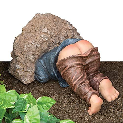 Bits and Pieces bits y Piezas-Poco Digger Funny-Estatua de Jardín de polirresina.-Hace...