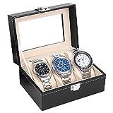 Uhrenkasten Uhrenbox Uhrenkoffer für 3 Uhren Aufbewahrung für Uhren Uhrenschatulle Speicher für Uhren Uhrbox von der Marke MyBeautyworld24