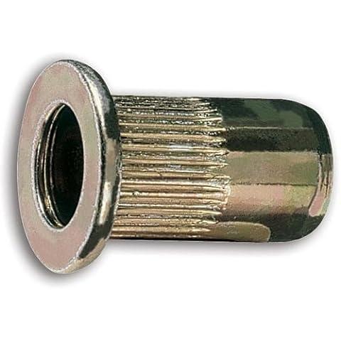 Beta 1742r-a/M4Gewinde Stahl gerändelt Stift Muttern, M4Gewinde, 6mm OD, 11mm Länge (20Stück)