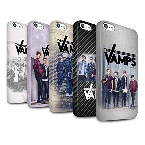 Officiel The Vamps Coque / Clipser Matte Etui pour Apple iPhone SE / Pack 6pcs Design / The Vamps Séance Photo Collection Pack 6pcs