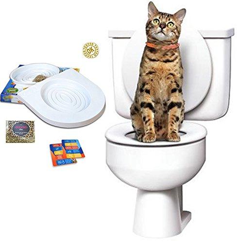 Ducomi Bobo - Kit para el Entrenamiento de Gatos - Entrene al Gato a Usar el Inodoro - Alternativa del Arenero - Práctico WC para Gatos (Adiestramiento)
