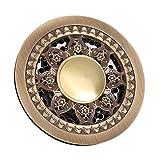 ylhm Full Copper Antike Zirkular Bodenablauf Anti odorization Waschmaschine DOUBLE Verwendung Bodenablauf Core Badezimmer Balkon Küche Bodenablauf