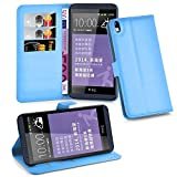 Cadorabo Hülle für HTC Desire 816 - Hülle in Pastel BLAU – Handyhülle mit Kartenfach und Standfunktion - Case Cover Schutzhülle Etui Tasche Book Klapp Style