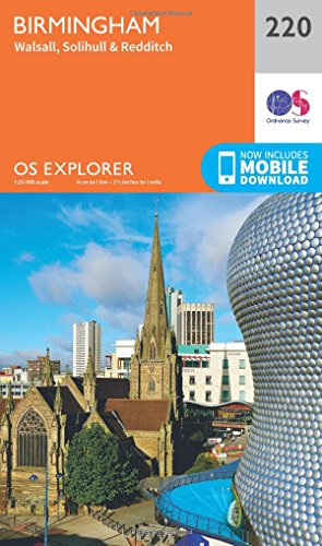 OS Explorer Map (220) Birmingham, Walsall, Solihull and Redditch