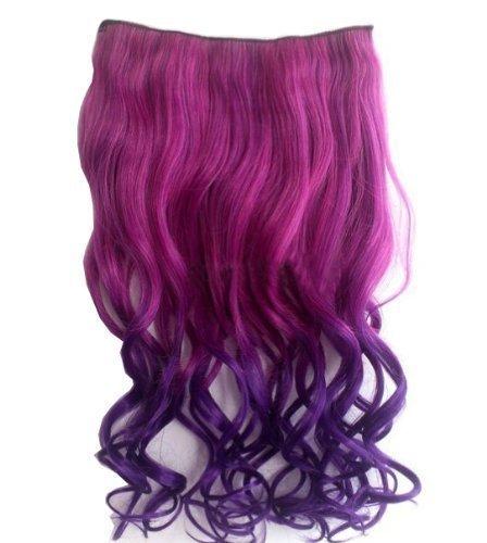 De Mode Sexy Deux Tons perruque longue Extensions capillaires à pinces Cheveux ondulés/bouclés Pièces filles