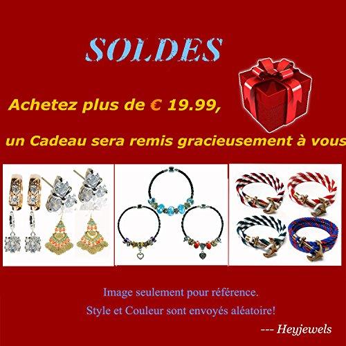 Noël Black Friday Mode Femme jolie Echarpe Foulard à pois carré 60*60cm en satin bleu fonc¨¦