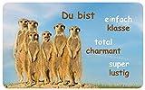 Sü-Verlag 97532 Frühstücksbrettchen Xtreme Erdhörnchen, 23,3 x 14,3 cm