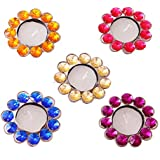 Creativity Creations Diwali Auspicious Set OF Five Crystal Beads Diya N Tealight