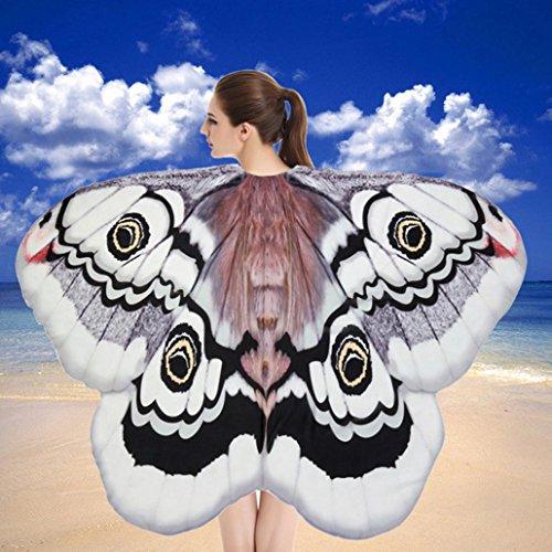 her Stoff Schmetterlingsflügel Schal Strand Badetücher Fee Damen Nymph Pixie Kostüm Zubehör (E) ()