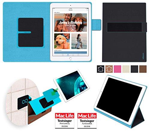 reboon Hülle für Apple iPad (2017) Wi-Fi Plus Cellular Tasche Cover Case Bumper | in Schwarz | Testsieger