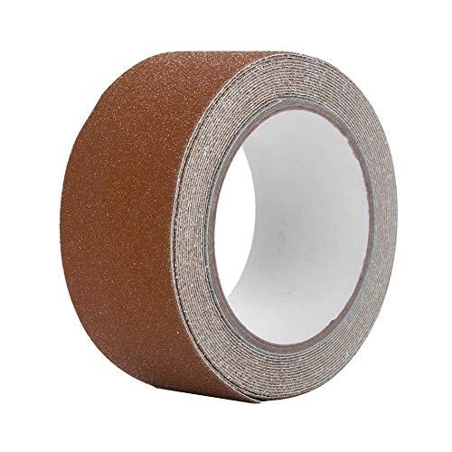 Negro para interiores y exteriores 5 cm x 5 m autoadhesiva PVC antideslizante cinta resistente al desgaste adhesivo suelo de seguridad fuerte agarre abrasivo no es f/ácil dejar residuo adhesivo
