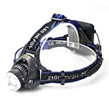 Feicuan 1200Lm CREE XM-L T6 LED Linterna Frontal Headlight Head Torch Zoomable Linterna Camping Hunting Senderismo