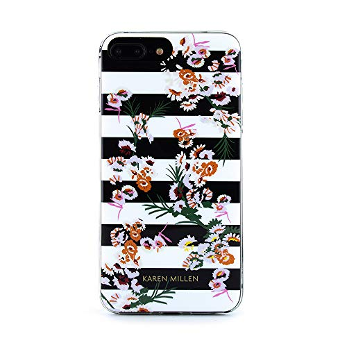 Karen Millen® Floral Stripe Hülle kompatibel mit Apple iPhone 8 Plus / 7 Plus / 6 Plus (5.5