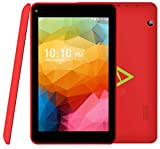 7 Inch ANOC Quad Core Android Tablet PC - Android 5.1 Lollipop - Octa Core GPU - Bluetooth - 1GB RAM - 8GB HDD - 1024*600 IPS Screen , WIFI, USB, DUAL CAMERA - Google Play - UK Warranty - Red