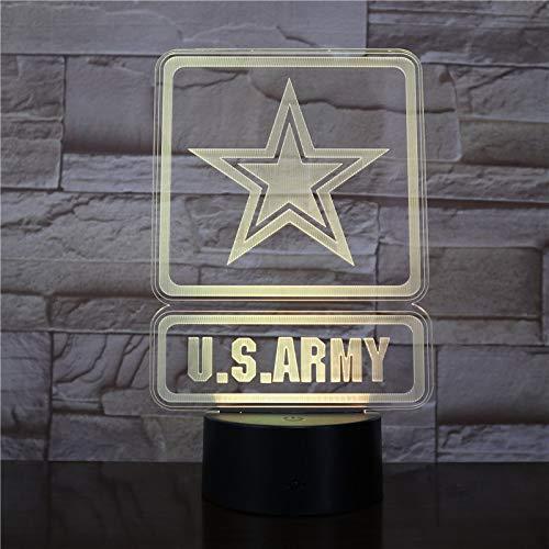 BFMBCHDJ US Army Military Form Moderne Atmosphäre 3D Decor Visuelle Lampe Nachtlicht Led Schlafzimmer Hochzeitsdekoration Geschenk