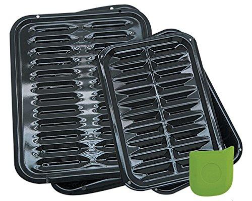 BP1026X2 5 Piece Porcelain Broiler Pan Set -