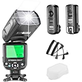 Neewer NW-562 E-TTL Flash Speedlite Kit per Canon DSLR,  NW-562 Flash + GHz wireless Trigger (1 trasmettitore + 1 ricevitore)