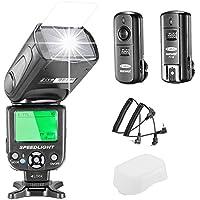 Neewer NW-562 E-TTL Flash Speedlite Kit per Canon DSLR,  NW-562 Flash + GHz wireless Trigger (1 trasmettitore + 1 ricevitore)