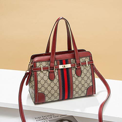 LFGCL Bags womenHandbag Casual City Shoulder Diagonal Damentasche, Weinrot - Louis Vuitton City Bag