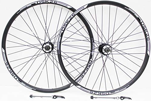 """26""""rueda de bicicleta de montaña freno de disco blanco y VBrake freno ruedas, 7,8,9,10velocidad Cassette tipo, Redneck XC1doble pared llantas V Sección (26"""" frontal + trasera)"""