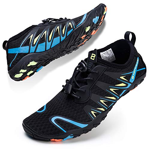 72869eb3051b Barefoot Water Shoes for Women Men Quick Dry Sports Aqua Toe Shoes  Lightweight Durable Sole for