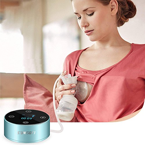Elektrische Milchpumpe, SUMGOTT Wiederaufladbar tragbar Elektrische Brustpumpe mit LCD Smart Touchscreen - 7