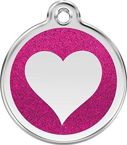 red-dingo-glitter-heart-dog-id-tag-hot-pink-medium