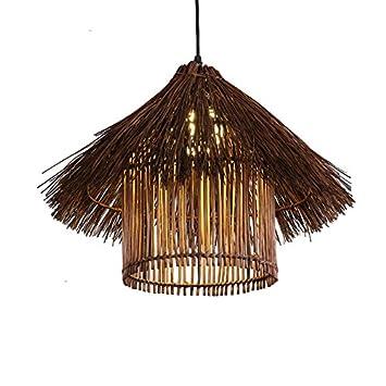 Wcui Rattan Leuchter, Kreatives Restaurant Restaurant Dekorations Leuchter  Retro Vogelnest Beleuchtet